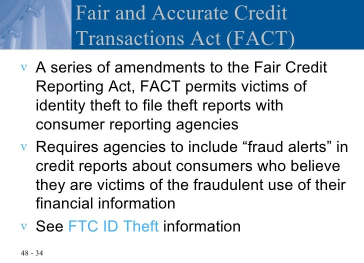 Chapter 48 the federal trade commission act and consumer protection fair and accurate credit transactions act publicscrutiny Gallery