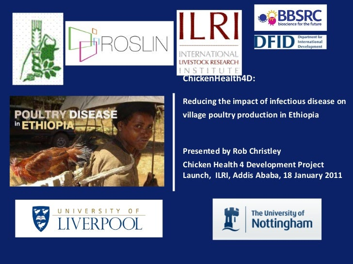 ChickenHealth4D:   Reducing the impact of infectious disease on village poultry production in Ethiopia   Presented by Rob ...