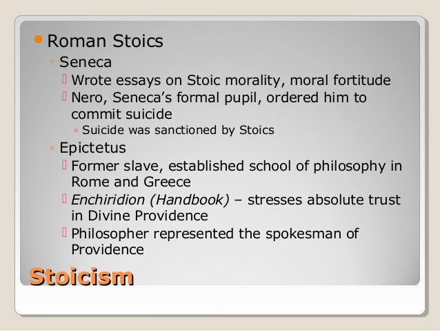 epictetus essay questions Stoicism essay stoicism was a belief system founded by zeno of citium at the end of the fourth century bce, at a time when the system of greek city-states was coming to an end and apparent chaos was about to descend.