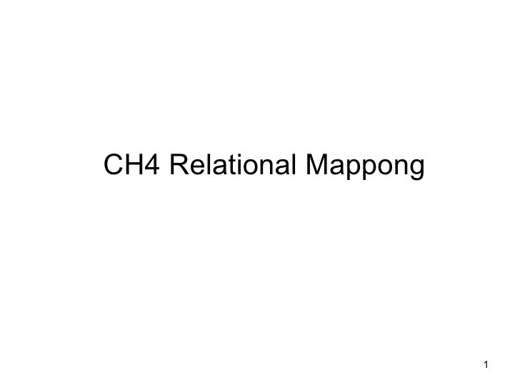 CH4 Relational Mappong