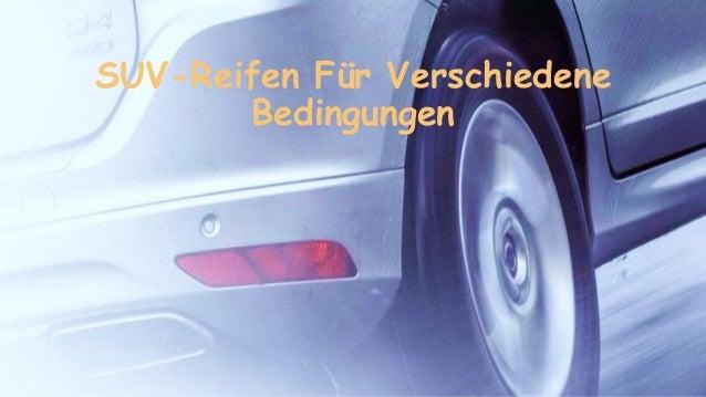 SUV-Reifen F�r Verschiedene Bedingungen