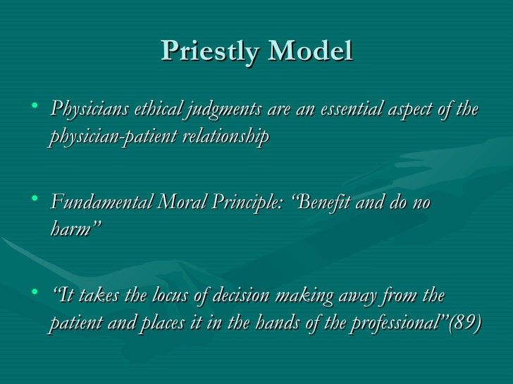 four models of the physician patient relationship summary judgment