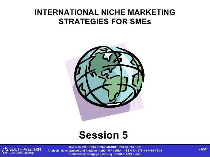 INTERNATIONAL NICHE MARKETING STRATEGIES FOR SMEs Session 5