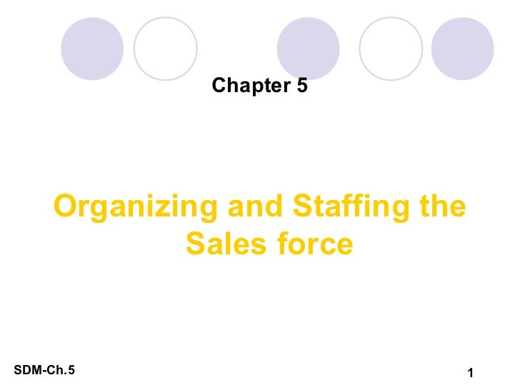 Chapter 5     Organizing and Staffing the             Sales forceSDM-Ch.5                       1