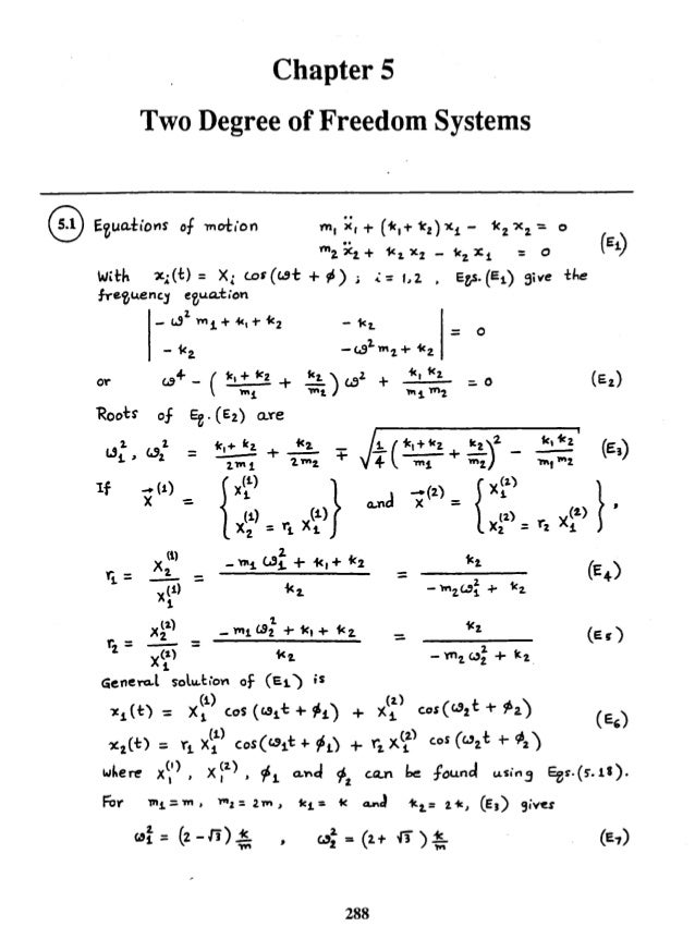 Mechanical Vibrations by SS Rao 4th Edition Solution manual chapter 05