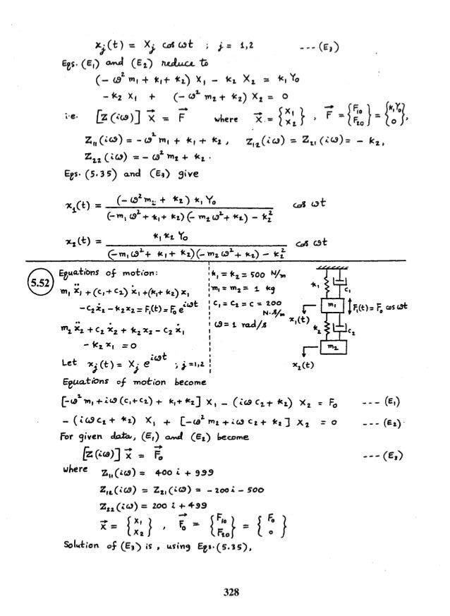 mechanical vibrations rao 5th solution manual