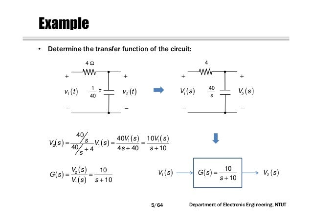 circuit network analysis [chapter5] transfer function, frequency re\u20264 64 department of electronic engineering, ntut; 5