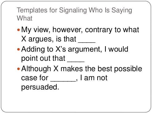 They say i say chapter 5 templates for signaling who is saying maxwellsz