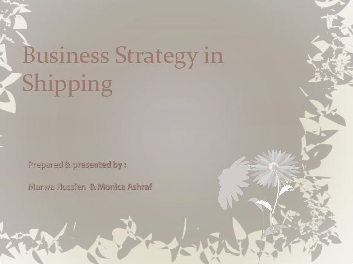 Business Strategy inShipping