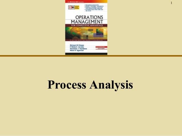 1  Process Analysis