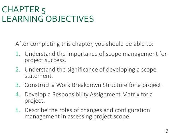 project Development Management (Scope Management ) Slide 2