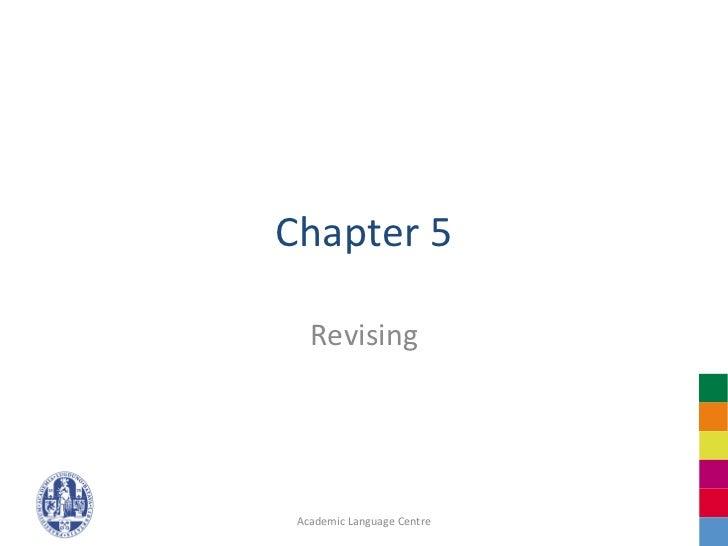 Chapter 5   Revising Academic Language Centre