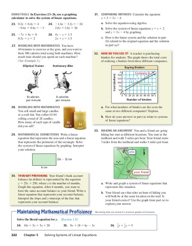 Ch 5 book - systems of linear equations