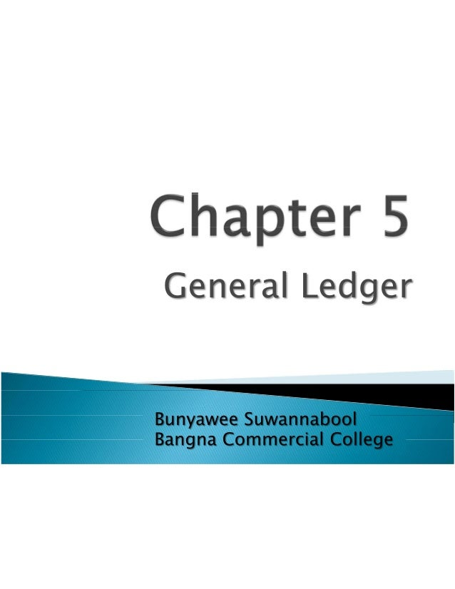 Ch5 General Ledger