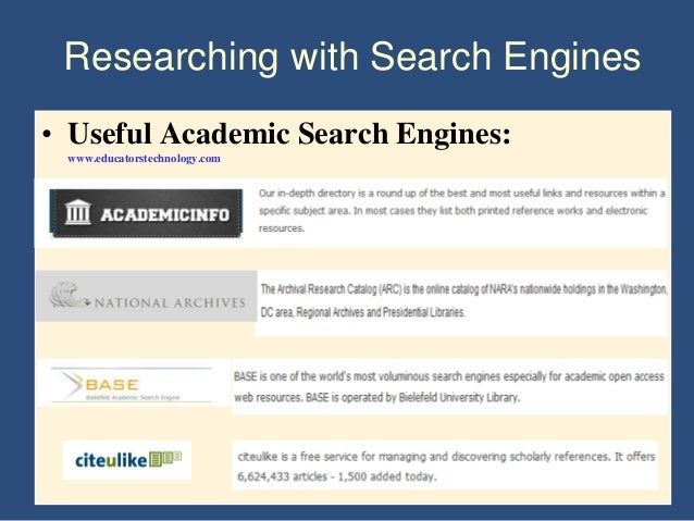 academic research papers search engine Academic research is microsoft academic search is a database filled with papers on virtual academic resource center is an academic search engine that.