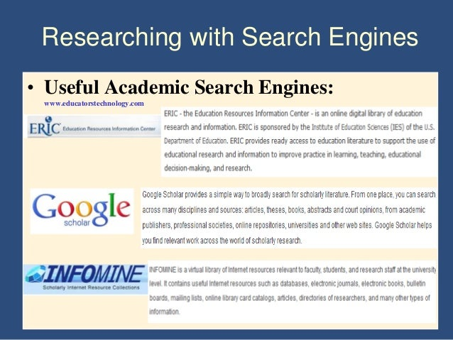 search for academic papers While there are many academic search engines available, there are some that have the most trusted resources they provide information on a range of they provide a one-stop solution to all research-related needs for a scientific paper besides, they provide a personal and customized way to search.