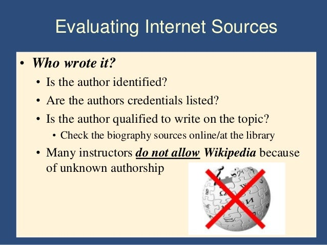 term paper internet sources Direct quotations that are more than 4 lines long should be set off from the rest of your paper by use of narrower margins and single spaced for internet sources.