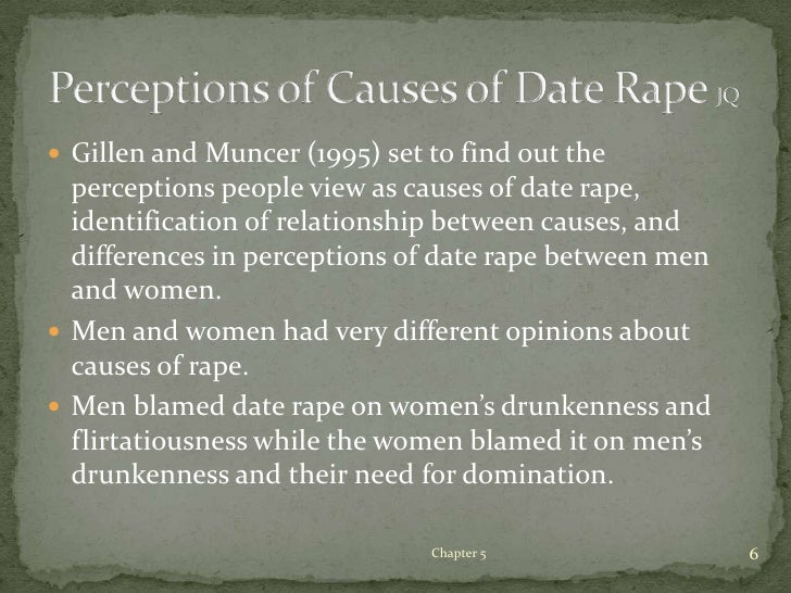 term paper on date rape Date rape s also briefly discussed and used to support the results examine the effects of gender in rape conceptualization and the importance of if you are the original writer of this essay and no longer wish to have the essay published on the uk essays website then please.