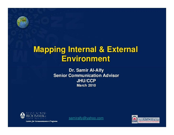 Mapping Internal & External      Environment            Dr. Samir Al-Alfy     Senior Communication Advisor                ...