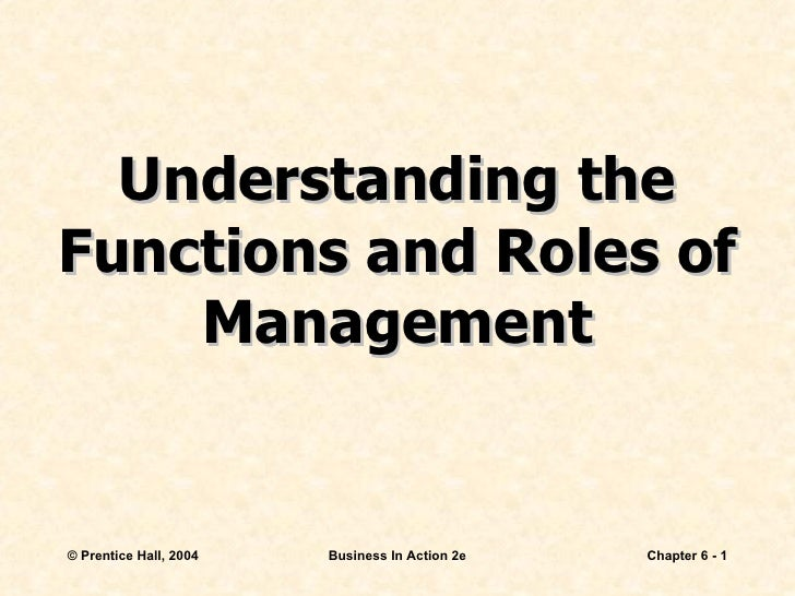 Understanding the Functions and Roles of Management