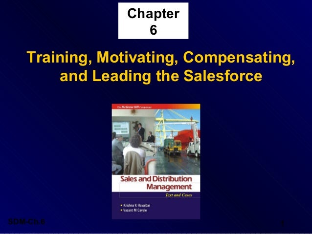 Chapter 6  Training, Motivating, Compensating, and Leading the Salesforce  SDM-Ch.6  1
