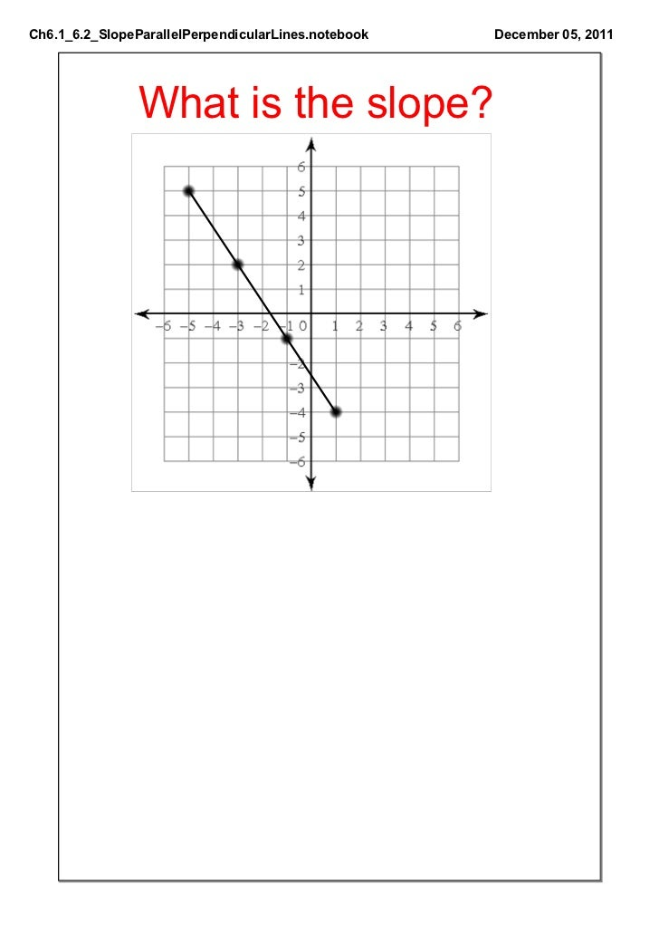 how to find the slope of a perpendicular line