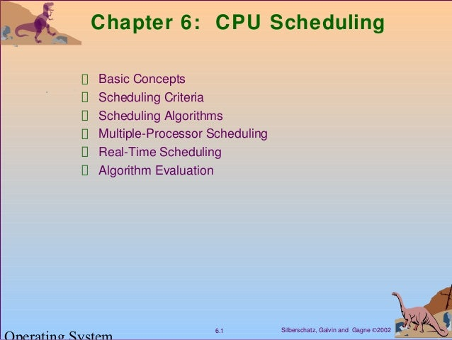 Silberschatz, Galvin and Gagne ©20026.1 Chapter 6: CPU Scheduling Basic Concepts Scheduling Criteria Scheduling Algorithms...