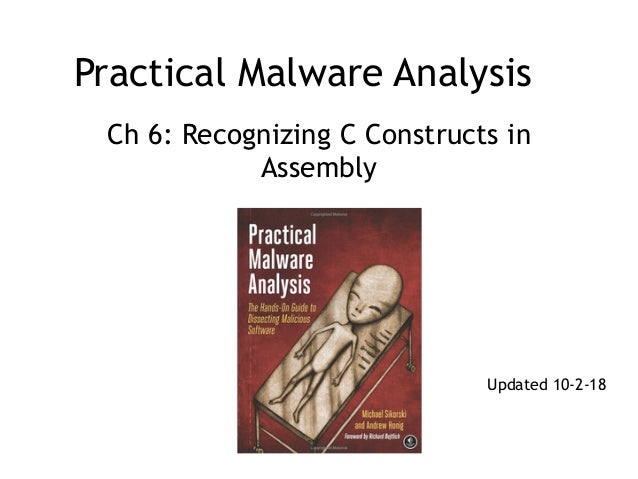 Practical Malware Analysis Ch 6: Recognizing C Constructs in Assembly Updated 10-2-18