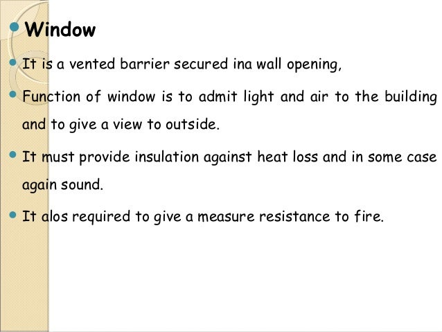 3.  sc 1 st  SlideShare & DoorsWindows \u0026 Ventilator in Building Construction