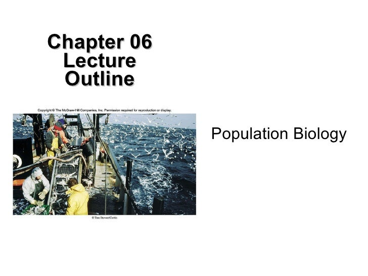 Population Biology Chapter 06 Lecture Outline
