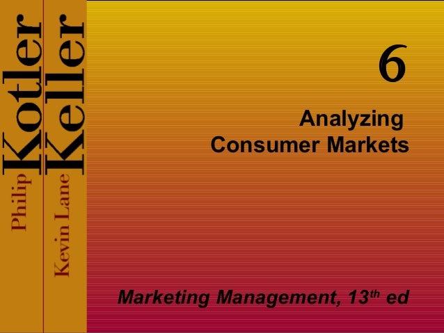 AnalyzingConsumer MarketsMarketing Management, 13thed6