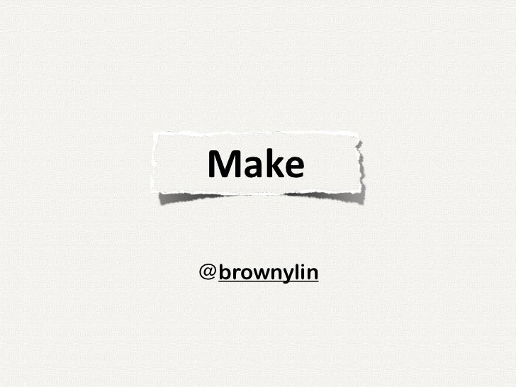 Make@brownylin