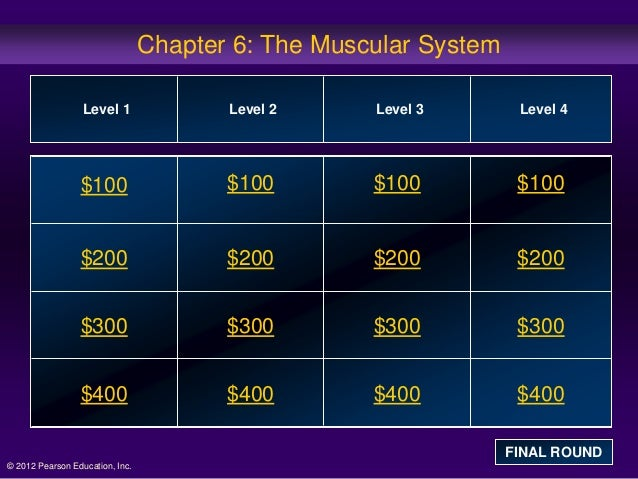 Chapter 6: The Muscular System                  Level 1               Level 2     Level 3        Level 4                 $...