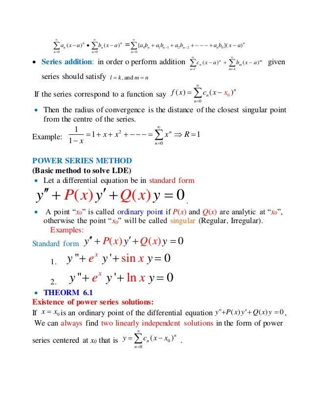 Ch6 Series Solutions Algebra
