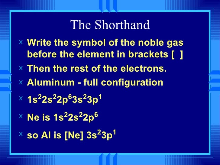 Ch 6 the periodic table and periodic law short2 28 the shorthand urtaz Gallery
