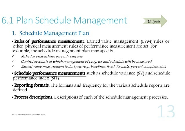 pmp pmbok 5th ch 6 time management
