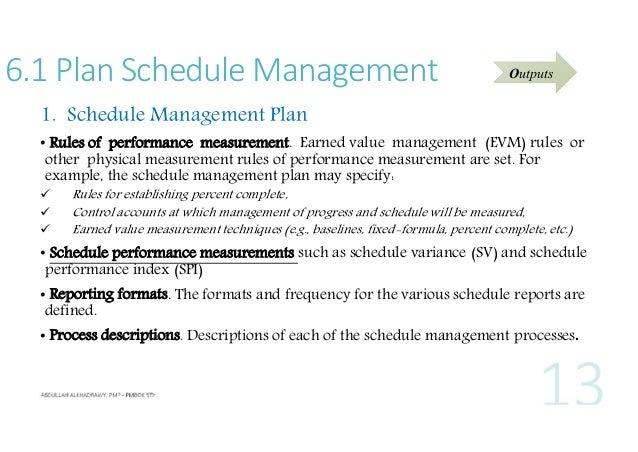 13 61 Plan Schedule Management