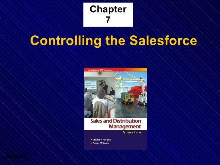 Chapter 7 <ul><li>Controlling the Salesforce </li></ul>
