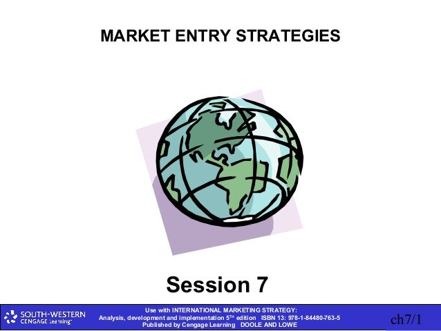 Use with INTERNATIONAL MARKETING STRATEGY: Analysis, development and implementation 5TH edition ISBN 13: 978-1-84480-763-5...