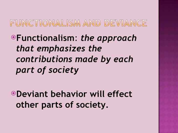 deviance and social control In sociology, deviance describes an action or behavior that violates social norms, including a formally enacted rule (eg, crime), as well as informal violations of social norms although deviance may have a negative connotation, the violation of social norms is not always a negative action.