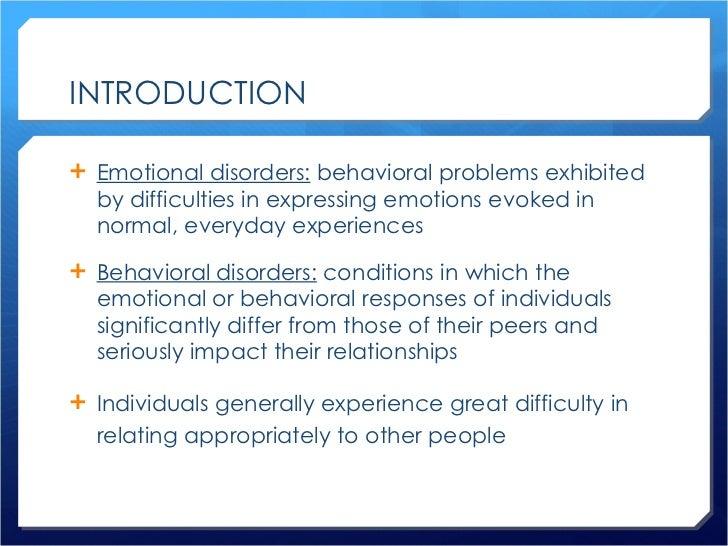 emotional behavioral disturbance