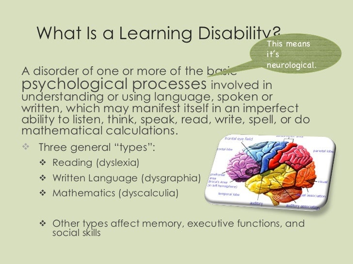 types of learning disabilities pdf