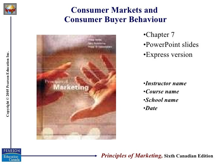 Consumer Markets and  Consumer Buyer Behaviour <ul><li>Chapter 7 </li></ul><ul><li>PowerPoint slides </li></ul><ul><li>Exp...