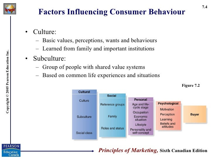 External Environmental Factors Affecting Consumer Behaviour Consumer Behaviour