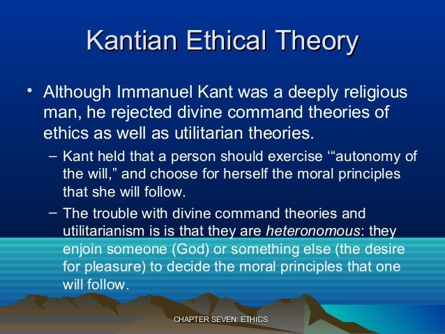 A comparison between the moral theories of aristotle and immanuel kant