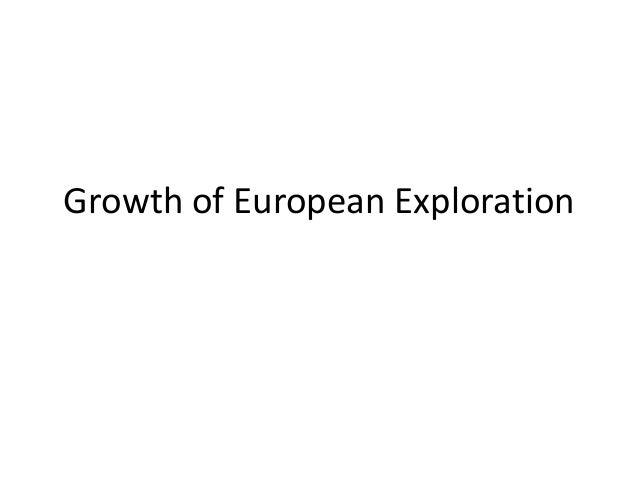 Growth of European Exploration