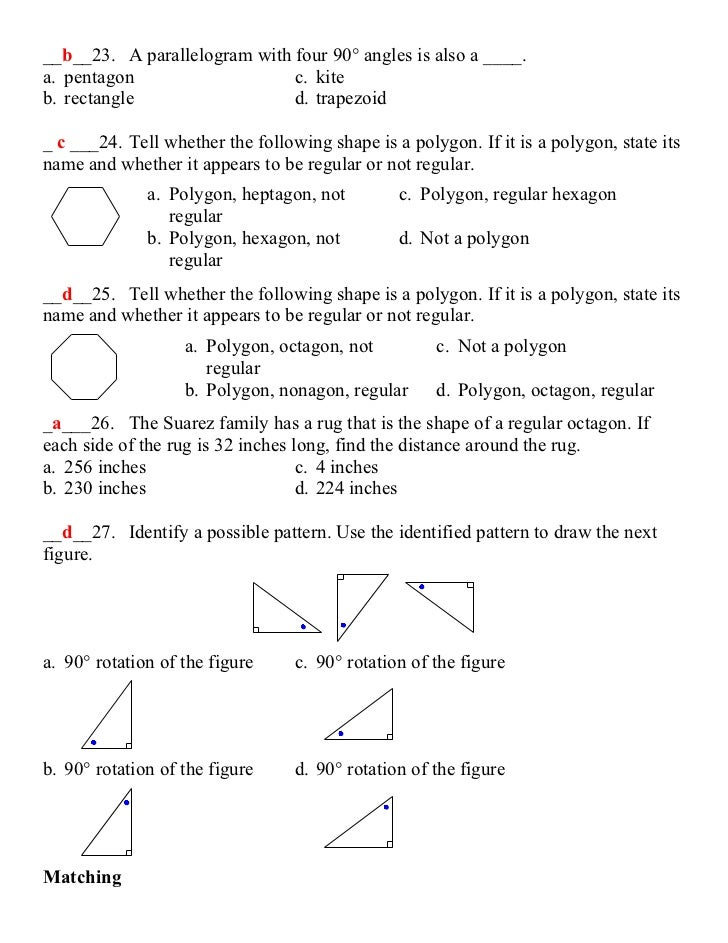 Ch 7 Test Review