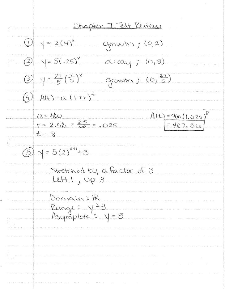 Ch 7 test review key
