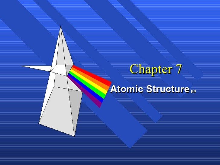 Chapter 7 Atomic Structure  pp