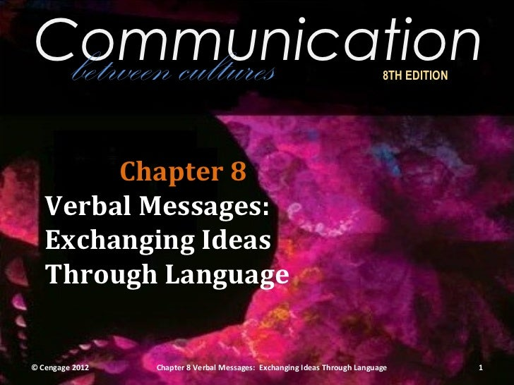 Communication between cultures                                                          8TH EDITION        Chapter 8   Ver...